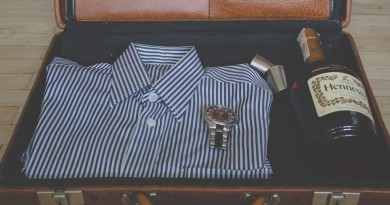 Suitcase, Shirt, Watch and Scotch